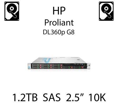 """1.2TB 2.5"""" dedykowany dysk serwerowy SAS do serwera HP ProLiant DL360p G8, HDD Enterprise 10k, 6Gbps - 697631-001 (REF)"""