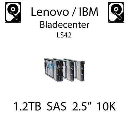 "1.2TB 2.5"" dedykowany dysk serwerowy SAS do serwera Lenovo / IBM Bladecenter LS42, HDD Enterprise 10k, 600MB/s - 00AD075"