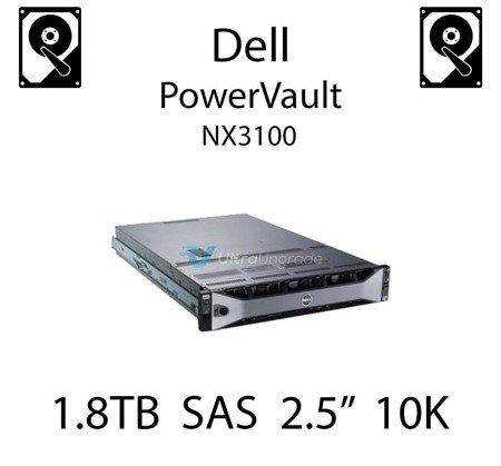 """1.8TB 2.5"""" dedykowany dysk serwerowy SAS do serwera Dell PowerVault NX3100, HDD Enterprise 10k - HWP3X"""