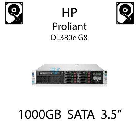 """1000GB 3.5"""" dedykowany dysk serwerowy SATA do serwera HP ProLiant DL380e G8, HDD Enterprise 7.2k, 6Gbps - 657739-001 (REF)"""