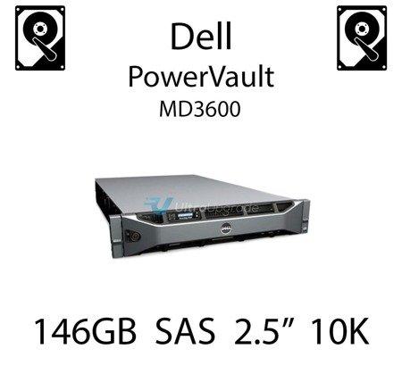 """146GB 2.5"""" dedykowany dysk serwerowy SAS do serwera Dell PowerVault MD3600, HDD Enterprise 10k, 300MB/s - CM318"""