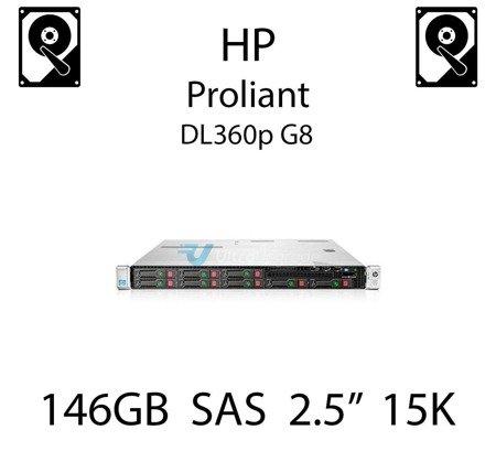 """146GB 2.5"""" dedykowany dysk serwerowy SAS do serwera HP ProLiant DL360p G8, HDD Enterprise 15k - 653950-001 (REF)"""