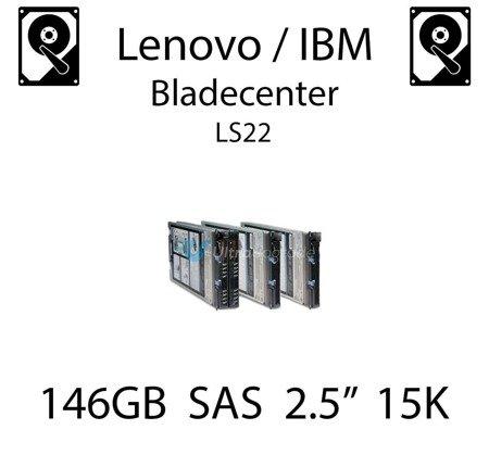 """146GB 2.5"""" dedykowany dysk serwerowy SAS do serwera Lenovo / IBM Bladecenter LS22, HDD Enterprise 15k, 600MB/s - 90Y8944"""