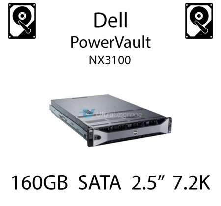 """160GB 2.5"""" dedykowany dysk serwerowy SATA do serwera Dell PowerVault NX3100, HDD Enterprise 7.2k, 3Gbps - K836N"""