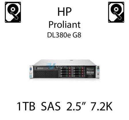 """1TB 2.5"""" dedykowany dysk serwerowy SAS do serwera HP ProLiant DL380e G8, HDD Enterprise 7.2k, 6Gbps - 652749-B21 (REF)"""