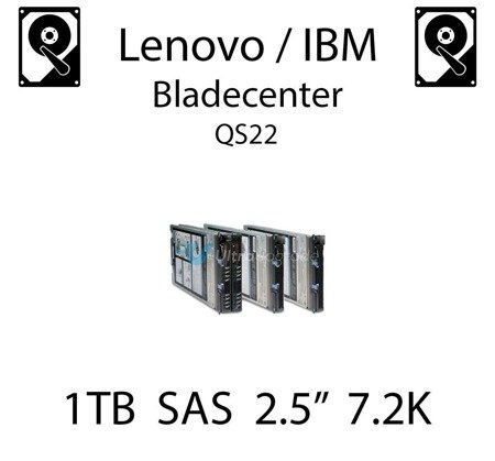 """1TB 2.5"""" dedykowany dysk serwerowy SAS do serwera Lenovo / IBM Bladecenter QS22, HDD Enterprise 7.2k, 600MB/s - 81Y9690"""