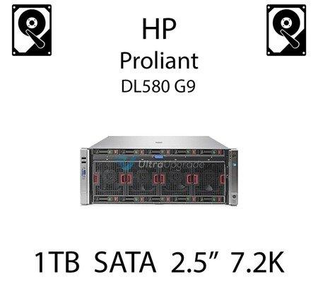 """1TB 2.5"""" dedykowany dysk serwerowy SATA do serwera HP Proliant DL580 G9, HDD Enterprise 7.2k, 6Gbps - 765868-001   (REF)"""