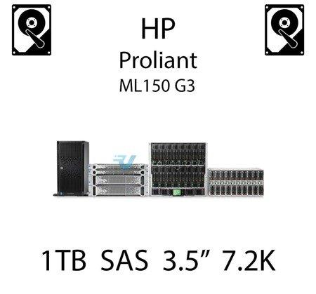 """1TB 3.5"""" dedykowany dysk serwerowy SAS do serwera HP ProLiant ML150 G3, HDD Enterprise 7.2k, 6GB/s - 508011-001 (REF)"""