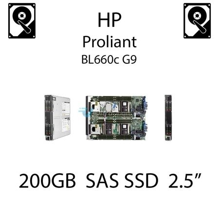 """200GB 2.5"""" dedykowany dysk serwerowy SAS do serwera HP ProLiant BL660c G9, SSD Enterprise  - 779164-B21 (REF)"""