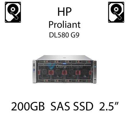 """200GB 2.5"""" dedykowany dysk serwerowy SAS do serwera HP Proliant DL580 G9, SSD Enterprise  - 802578-B21 (REF)"""
