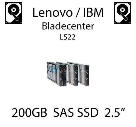 "200GB 2.5"" dedykowany dysk serwerowy SAS do serwera Lenovo / IBM Bladecenter LS22, SSD Enterprise , 600MB/s - 49Y6129"