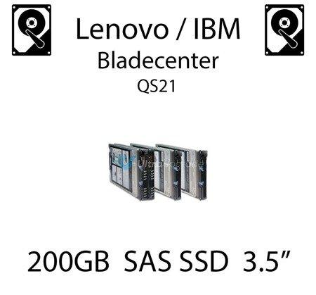 """200GB 3.5"""" dedykowany dysk serwerowy SAS do serwera Lenovo / IBM Bladecenter QS21, SSD Enterprise , 600MB/s - 00W1311"""