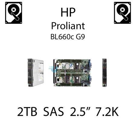 """2TB 2.5"""" dedykowany dysk serwerowy SAS do serwera HP ProLiant BL660c G9, HDD Enterprise 7.2k, 12Gbps - 765466-B21 (REF)"""
