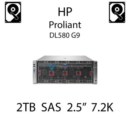 """2TB 2.5"""" dedykowany dysk serwerowy SAS do serwera HP Proliant DL580 G9, HDD Enterprise 7.2k, 12Gbps - 765873-001 (REF)"""