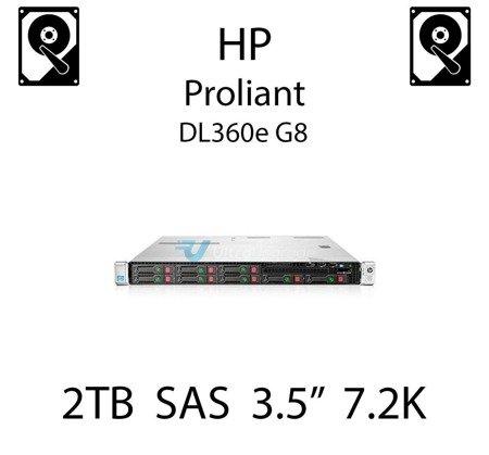 """2TB 3.5"""" dedykowany dysk serwerowy SAS do serwera HP Proliant DL360e G8, HDD Enterprise 7.2k, 6Gbps - 653948-001 (REF)"""