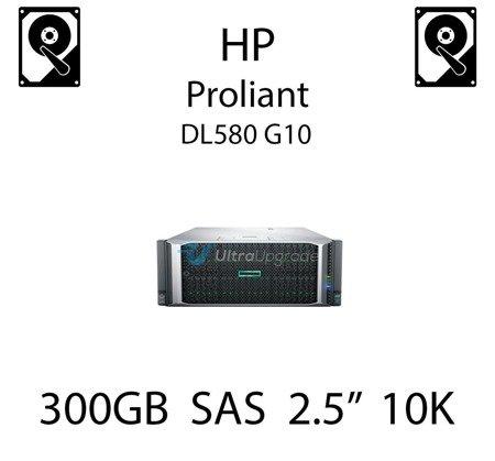 """300GB 2.5"""" dedykowany dysk serwerowy SAS do serwera HP ProLiant DL580 G10, HDD Enterprise 10k, 12Gbps - 872475-B21 (REF)"""