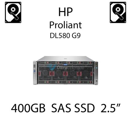 "400GB 2.5"" dedykowany dysk serwerowy SAS do serwera HP Proliant DL580 G9, SSD Enterprise  - 802907-001 (REF)"