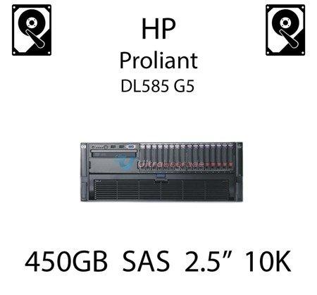 """450GB 2.5"""" dedykowany dysk serwerowy SAS do serwera HP ProLiant DL585 G5, HDD Enterprise 10k - 581284-B21 (REF)"""
