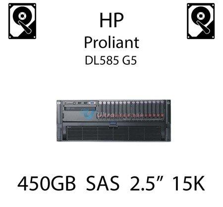 """450GB 2.5"""" dedykowany dysk serwerowy SAS do serwera HP ProLiant DL585 G5, HDD Enterprise 15k, 12GB/s - 785408-001 (REF)"""