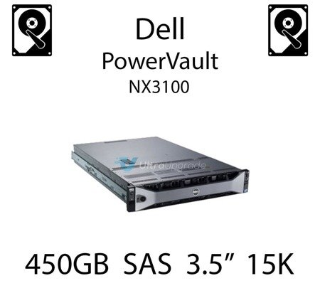 """450GB 3.5"""" dedykowany dysk serwerowy SAS do serwera Dell PowerVault NX3100, HDD Enterprise 15k, 6Gbps - R749K"""