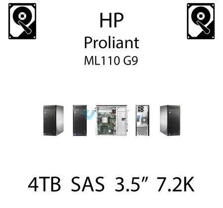 """4TB 3.5"""" dedykowany dysk serwerowy SAS do serwera HP ProLiant ML110 G9, HDD Enterprise 7.2k, 1200MB/s - 793669-B21 (REF)"""