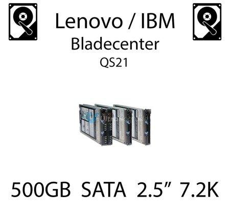 """500GB 2.5"""" dedykowany dysk serwerowy SATA do serwera Lenovo / IBM Bladecenter QS21, HDD Enterprise 7.2k, 600MB/s - 81Y9726"""