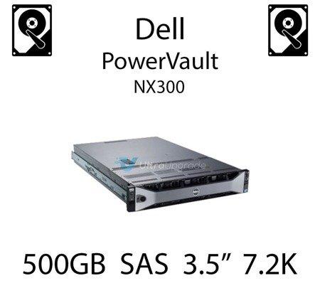 """500GB 3.5"""" dedykowany dysk serwerowy SAS do serwera Dell PowerVault NX300, HDD Enterprise 7.2k, 6Gbps - U717K"""