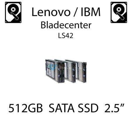 """512GB 2.5"""" dedykowany dysk serwerowy SATA do serwera Lenovo / IBM Bladecenter LS42, SSD Enterprise , 600MB/s - 49Y5844"""