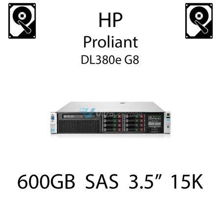 """600GB 3.5"""" dedykowany dysk serwerowy SAS do serwera HP ProLiant DL380e G8, HDD Enterprise 15k, 6Gbps - 652620-B21 (REF)"""