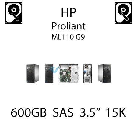 """600GB 3.5"""" dedykowany dysk serwerowy SAS do serwera HP ProLiant ML110 G9, HDD Enterprise 15k, 12Gbps - 765867-001 (REF)"""