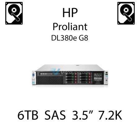 """6TB 3.5"""" dedykowany dysk serwerowy SAS do serwera HP ProLiant DL380e G8, HDD Enterprise 7.2k, 768MB/s - 765259-B21 (REF)"""
