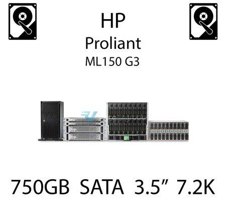 """750GB 3.5"""" dedykowany dysk serwerowy SATA do serwera HP ProLiant ML150 G3, HDD Enterprise 7.2k, 3Gbps - 459320-001 (REF)"""