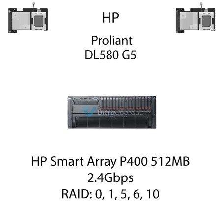 Kontroler RAID HP Smart Array P400 512MB, 2.4Gbps - 411064-B21